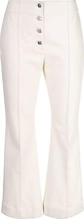 Rosetta Getty Calça jeans flare cropped - Branco
