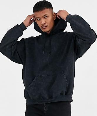 Reclaimed Vintage inspired oversized hoodie in washed black