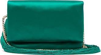 Galvan Tasselled Satin Shoulder Bag - Womens - Green