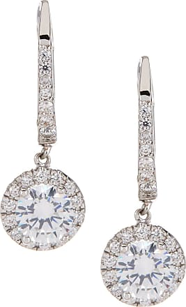 Nordstrom Rack Round Pave CZ Euro Drop Earrings