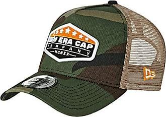 OVAL Brand Script beige New Era Adjustable Trucker Cap