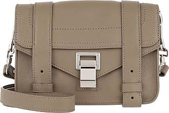 Proenza Schouler PS1 Mini Crossbody Bag Lamb Leather Light Taupe Umhängetasche grau