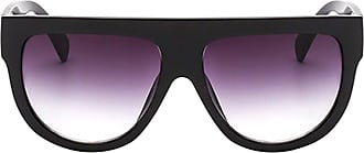 Zhuhaixmy Sunglasses for Unisex,Men Women Flat Top Shield Oversized Tortoise Mirrored Flat Lenses Plastic Frame Sun Glasses UV400 Retro Vintage