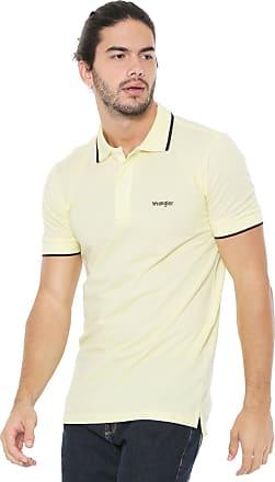 3ab6436936 Wrangler Camisa Polo Wrangler Reta Logo Amarela