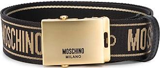 Moschino logo print belt - Black