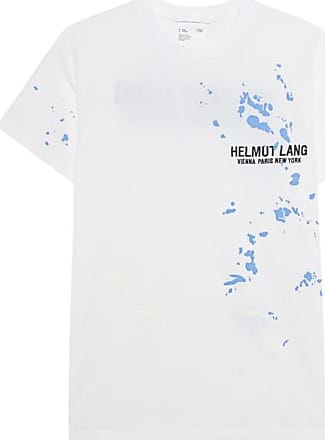 Helmut Lang Splatter Painted Chalk White