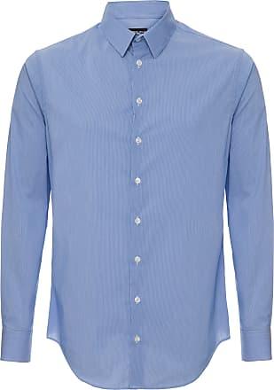 Giorgio Armani Camisa Vintage Listrada - Homem - Azul - 43 IT