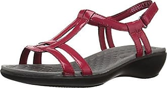 Clarks Womens Sonar Aster Sandal, red Synthetic Patent, 11 Medium US
