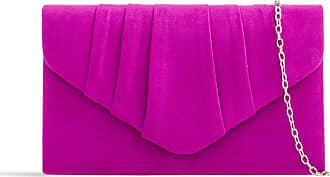 LeahWard Womens Suede Glitter Clutch Handbags Purse Wedding Bags Evening Handbags 308 (Violet)
