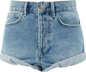 Raey Rivet Cut-off Denim Shorts - Womens - Light Blue