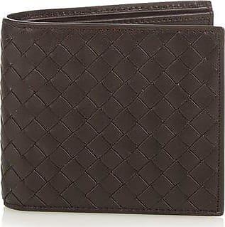 Bottega Veneta Bi-fold Intrecciato Leather Wallet - Mens - Brown