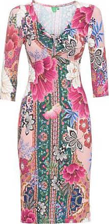 Farm Vestido Torção Estampado Farm - Rosa