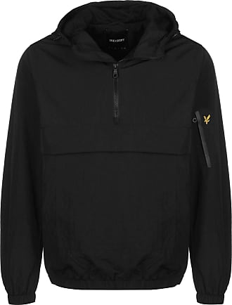 Lyle & Scott Lyle and Scott Men 1/4 Zip Overhead Jacket - L True Black