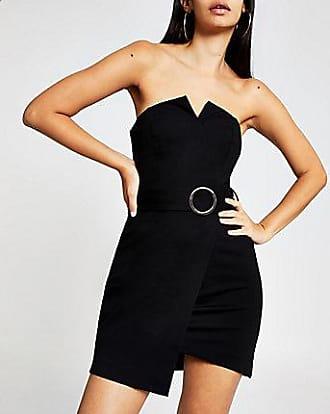 River Island Womens Black belted mini dress