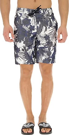Emporio Armani Swim Shorts Trunks for Men On Sale in Outlet, Bianco, polyester, 2019, S XS