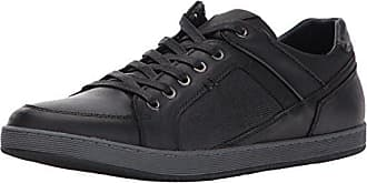 5f0dfe70860 Steve Madden Mens Palis Fashion Sneaker Black Leather 10.5 US US Size  Conversion M US