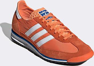 adidas Originals SL 72 sneakers in white and orange