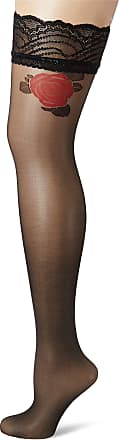 Fiore Womens Ozana/Golden Line Classic Hold - up Stockings, 20 DEN, Black, Small (Size: 2)