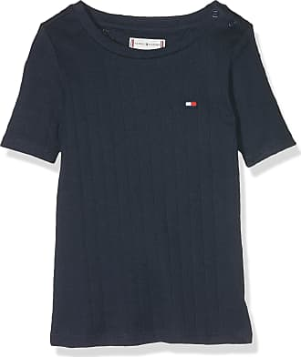 378aa630f7e Tommy Hilfiger Baby Girls Solid Wide Rib S/s Tee T-Shirt, Blue