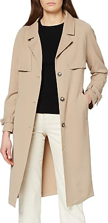 Vero Moda Womens Vmdonnaexport Ss20 Long Jacket Boos Trenchcoat, Brown, S