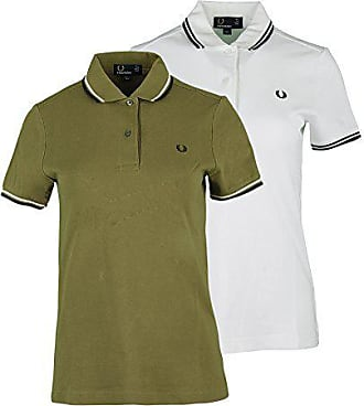 Fred Perry Womens Twin Tipped Shirt, White/Black, 6