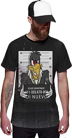 Di Nuevo Camiseta Zeca Urubu Preso Pica Pau Preta Masculina