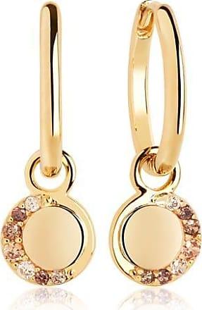 Sif Jakobs Jewellery Ohrringe Portofino Pendant Earrings - 18K vergoldet mit gelbe Zirkonia