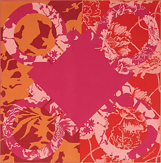 Salvatore Ferragamo Women Silk scarf with Gancini print Red/pink/orange