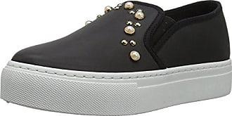 Qupid Womens ROYAL-04A Sneaker, Black, 9 M US