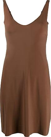 Wolford U-neck slip shape dress - Marrom
