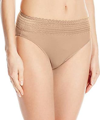 Warner's Womens No Pinching No Problems Lace Hi Cut Brief Panty, Toasted Almond, Medium