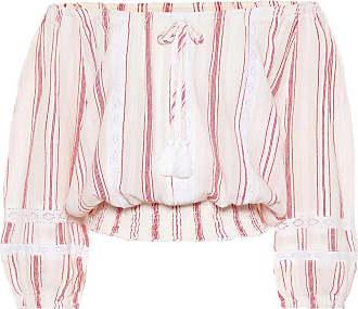 Melissa Odabash Azura striped cotton crop top