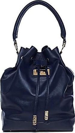 Andrea Vinci Bolsa saco em couro legítimo azul