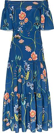 Borgo De Nor Vestido de seda floral - Azul