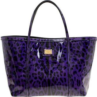 Dolce   Gabbana Dolce And Gabbana Purple Leopard Print Patent Leather Miss  Escape Tote d2fdb06eca