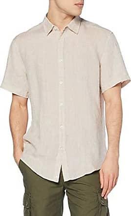 Camicia uomo di lino color marrone chiaro Delsiena