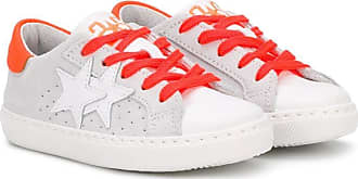 2Star star patch sneakers - White