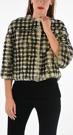 Yves Salomon Checked Real Fur Jacket size 42