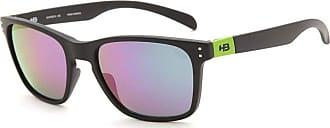 HB Óculos de Sol Hb Gipps ll 9013870591/55 Preto Fosco Espelhado Verde