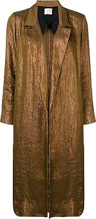 Forte_Forte long classic coat - Gold