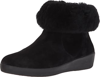 1e7cdedc39f FitFlop Skatebootie in Leather and Shearling Colour  Black