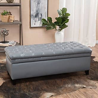 BEST SELLING HOME Aletha Tufted Storage Ottoman Brown - 296865