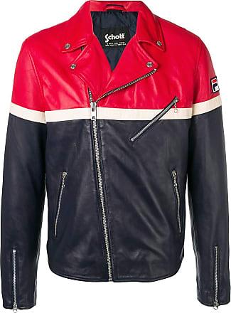 1f5a87027e60 Fila contrast panels leather jacket - Blue