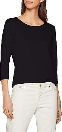 Jacqueline de Yong Womens JDYSAGA 3/4 Zip TOP JRS NOOS Longsleeve T-Shirt, Black (Black), Large
