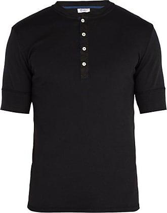 Schiesser Short-sleeved Cotton-jersey Pyjama Top - Mens - Black