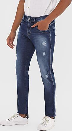 Sawary Calça Jeans Sawary Skinny Destroyed Azul-Marinho
