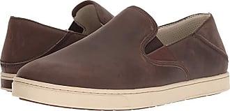 Olukai Kahu Ili (Dark Wood/Tapa) Mens Slip on Shoes