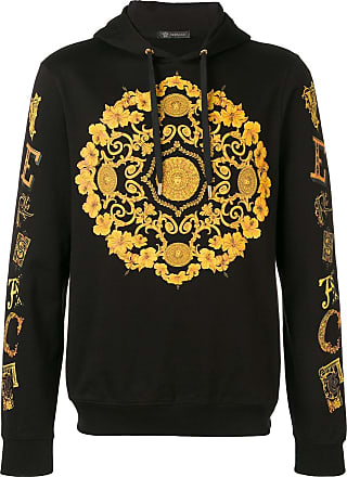 Versace Baroque logo hoodie - Black