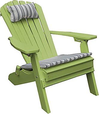 A & L Furniture A & L Furniture 881-LM Lime Polywood Folding/Reclining Adirondack Chair, One Size