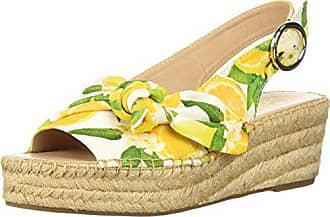 Franco Sarto Womens Pirouette Espadrille Wedge Sandal, Yellow, 8 M US